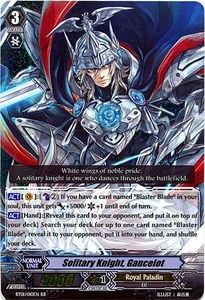 Cardfight Vanguard ENGLISH Descent of the King of Knights Single Card RR Rare BT01-010EN Solitary Knight, Gancelot