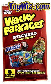 Topps Wacky Packages Series 1 Trading Card Stickers Pack
