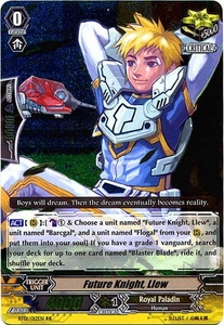 Cardfight Vanguard ENGLISH Descent of the King of Knights Single Card RR Rare BT01-012EN Future Knight, Llew