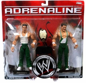 WWE Jakks Pacific Wrestling Adrenaline Series 22 Action Figure 2-Pack Johnny & Mitch [Spirit Squad] Miss Packaged!