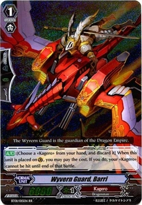 Cardfight Vanguard ENGLISH Descent of the King of Knights Single Card RR Rare BT01-015EN Wyvern Guard, Barri