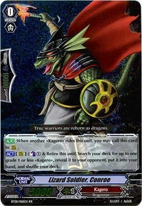 Cardfight Vanguard ENGLISH Descent of the King of Knights Single Card RR Rare BT01-016EN Lizard Soldier, Conroe