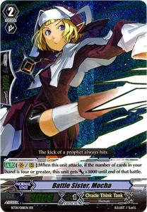 Cardfight Vanguard ENGLISH Descent of the King of Knights Single Card RR Rare BT01-018EN Battle Sister Mocha