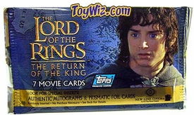 Lord of the Rings Topps The Return of the King Movie Card Pack BLOWOUT SALE!