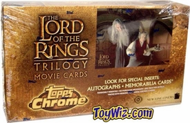 Lord of the Rings Trilogy Topps Chrome Movie Trading Cards Box