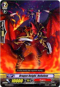 Cardfight Vanguard ENGLISH Descent of the King of Knights Single Card Rare BT01-022EN Dragon Knight, Nehalem