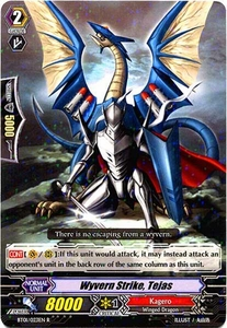 Cardfight Vanguard ENGLISH Descent of the King of Knights Single Card Rare BT01-023EN Wyvern Strike, Tejas