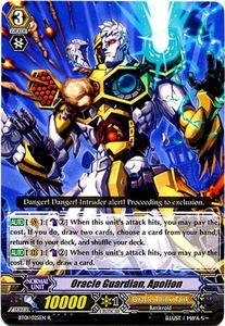 Cardfight Vanguard ENGLISH Descent of the King of Knights Single Card Rare BT01-025EN Oracle Guardian, Apollon