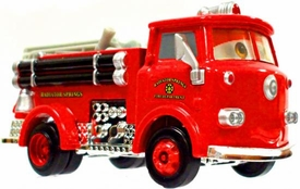 Red the Firetruck [Lenticular Eyes] LOOSE Disney / Pixar CARS Movie 1:55 Die Cast Car