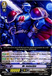 Cardfight Vanguard ENGLISH Descent of the King of Knights Single Card Rare BT01-028EN Mr. Invincible