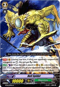 Cardfight Vanguard ENGLISH Descent of the King of Knights Single Card Rare BT01-039EN Hell Spider