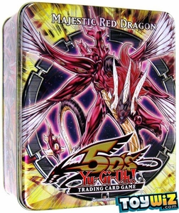 YuGiOh 5D's 2010 Wave 1 Collector Tin Set Majestic Red Dragon [E. Hero Stratos, Battle Fader, Van'Dalgyon & Cyber Dinosaur]