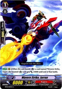 Cardfight Vanguard ENGLISH Descent of the King of Knights Single Card Common BT01-050EN Wyvern Strike, Jarran