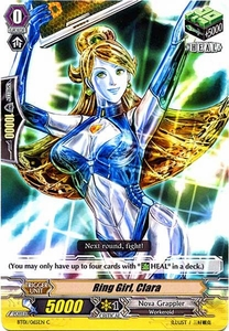 Cardfight Vanguard ENGLISH Descent of the King of Knights Single Card Common BT01-065EN Ring Girl, Clara