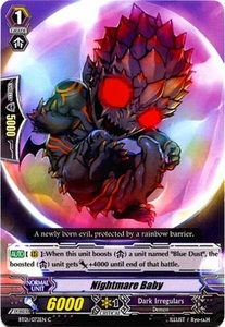Cardfight Vanguard ENGLISH Descent of the King of Knights Single Card Common BT01-072EN Nightmare Baby
