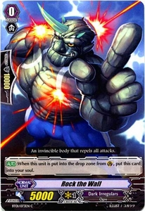 Cardfight Vanguard ENGLISH Descent of the King of Knights Single Card Common BT01-073EN Rock The Wall