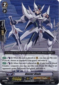 Cardfight Vanguard ENGLISH Descent of the King of Knights Single Card SP Rare BT01-S02 Blaster Blade