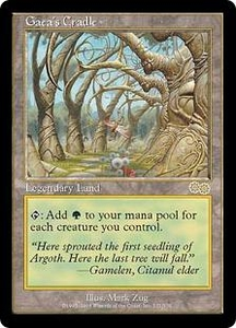 Magic the Gathering Urza's Saga Single Card Rare #321 Gaea's Cradle