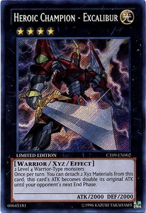 YuGiOh 2012 Holiday Tin Promo Single Card Secret Rare CT09-EN002 Heroic Champion - Excalibur