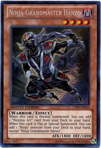 YuGiOh 2012 Holiday Tin Promo Single Card Secret Rare CT09-EN003 Ninja Grandmaster Hanzo