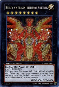 YuGiOh 2012 Holiday Tin Promo Single Card Secret Rare CT09-EN004 Hieratic Sun Dragon Overlord of Heliopolis