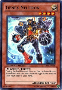 YuGiOh 2012 Holiday Tin Promo Single Card Super Rare CT09-EN005 Genex Neutron