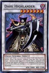 YuGiOh 2012 Holiday Tin Promo Single Card Super Rare CT09-EN007 Dark Highlander