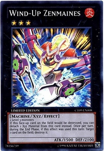 YuGiOh 2012 Holiday Tin Promo Single Card Super Rare CT09-EN008 Wind-Up Zenmaines