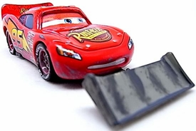 Lightning McQueen with Shovel [Lenticular Eyes] LOOSE Disney / Pixar CARS Movie 1:55 Die Cast Car