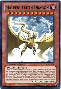 YuGiOh 2012 Holiday Tin Promo Single Card Super Rare CT09-EN016 Malefic Truth Dragon