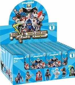 Playmobil Figures Series 1 Minifigure BLUE Mystery Box [48 Packs]