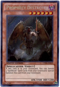 YuGiOh 2012 Holiday Tin Promo Single Card Secret Rare CT09-EN019 Prophecy Destroyer