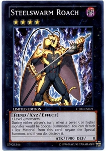 YuGiOh 2012 Holiday Tin Promo Single Card Super Rare CT09-EN021 Steelswarm Roach
