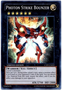 YuGiOh 2012 Holiday Tin Promo Single Card Super Rare CT09-EN022 Photon Strike Bounzer