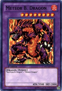 YuGiOh 2012 Premium Tin Promo Single Card Super Rare PRC1-EN004 Meteor B. Dragon