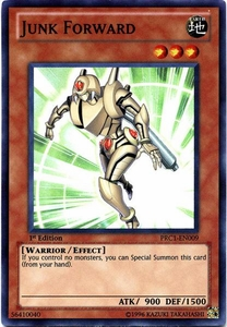 YuGiOh 2012 Premium Tin Promo Single Card Super Rare PRC1-EN009 Junk Forward