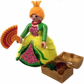 Playmobil LOOSE Mini Figure Princess with Treasure Chest & Golden Fan