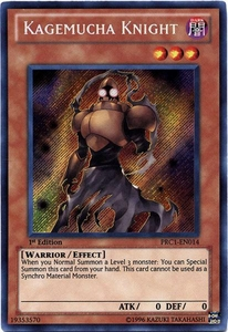 YuGiOh 2012 Premium Tin Promo Single Card Secret Rare PRC1-EN014 Kagamucha Knight