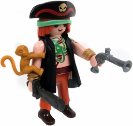 Playmobil LOOSE Mini Figure Pirate with Monkey