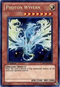 YuGiOh 2012 Premium Tin Promo Single Card Secret Rare PRC1-EN015 Photon Wyvern