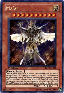 YuGiOh 2012 Premium Tin Promo Single Card Secret Rare PRC1-EN017 Ma'at