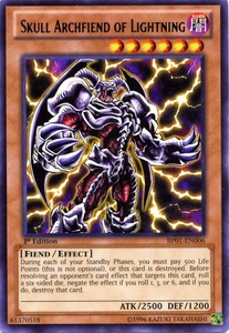 YuGiOh Battle Pack: Epic Dawn Single Card Rare BP01-EN006 Skull Archfiend of Lightning