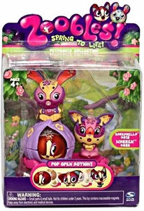 Zoobles Toy Animal Mini Figure 2-Pack #19 Barkarella & #20 Warren