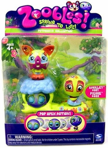 Zoobles Toy Petagonia Animal Mini Figure 2-Pack #21 Barkley & #22 Pierre