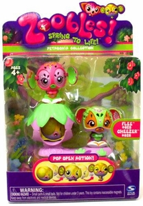 Zoobles Toy Petagonia Animal Mini Figure 2-Pack #25 Flee & #26 Cheezer