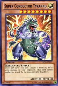 YuGiOh Battle Pack: Epic Dawn Single Card Rare BP01-EN013 Super Conductor Tyranno