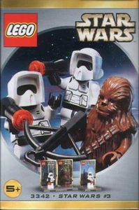 LEGO Star Wars Mini Figure Set #3342 Chewbacca & 2 Biker Scouts