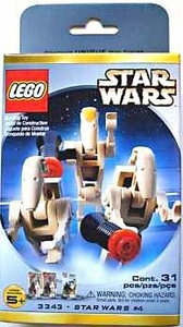 LEGO Star Wars Mini Figure Set #3343 Battle Droid Commander & 2 Battle Droids
