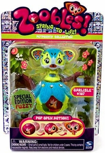Zoobles Toy Petagonia Animal Special Edition Fuzzy Mini Figure #107 Carlisle