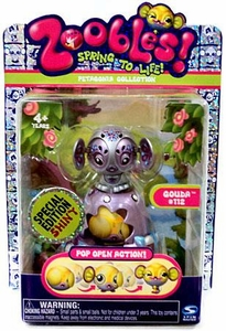 Zoobles Toy Petagonia Animal Special Edition Fuzzy Mini Figure #112 Gouda
